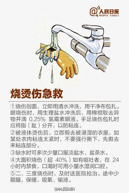 天津塘沽爆炸 牢记烧烫伤急救五字原则