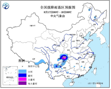 气象台发布暴雨蓝色预警四川盆地等地有强降水