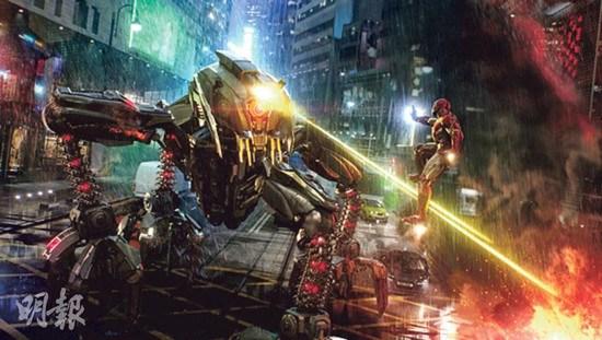 迪士尼打造主题区模拟钢铁侠香港大战外星人(图)