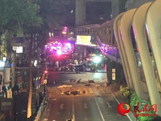 爆炸现场(记者俞懿春摄)