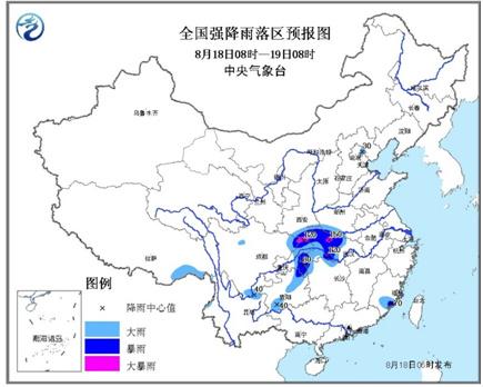 气象台发布暴雨蓝色预警江汉等地有强降水