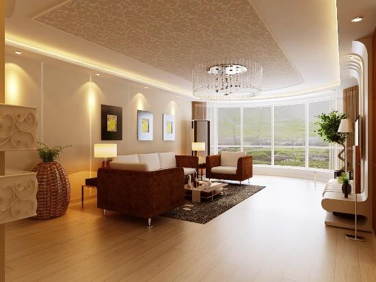 北京华贸城-二居室-80.00平米-客厅装修效果图