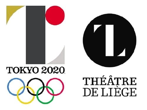 两作品对比图,左为东京奥运会徽。