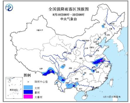 气象台发布暴雨蓝色预警湖北河南等地或降暴雨