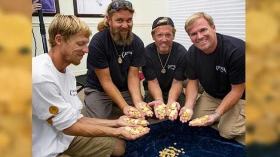 寻宝家发现300年前沉船宝藏含价值450万美元金币