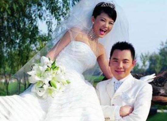 赵雅芝 李湘嫁/李湘第一次结婚照...