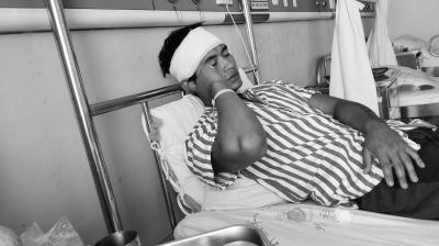 男子被8人围殴受伤住院 海口警方介入调查