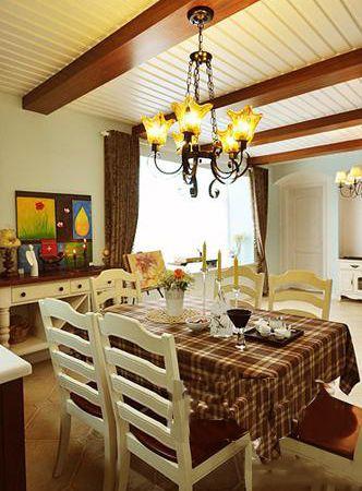 3套美式风两居室餐厅装修效果图 4千元设计方案超值     案例二:文艺