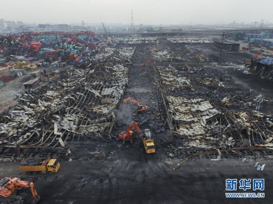"""(天津港""""8・12""""事故)(1)遇难人数升至129人 现场清运及受损小区修复工作稳步进行"""