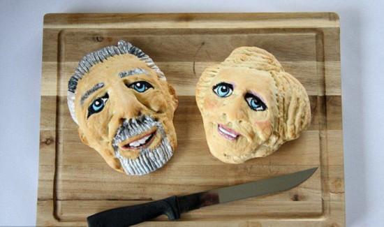 面包师烘焙奇趣外形面包走红网络