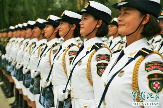 女兵也不简单 抗战阅兵女兵方队是怎样炼成 组图图片