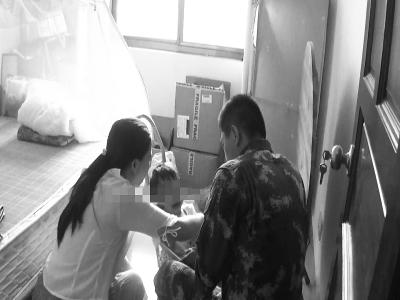 临高两岁女童独自被困屋内 消防官兵成功救援
