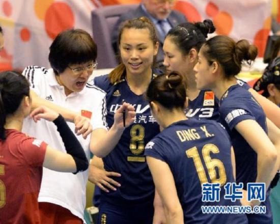 (体育)(2)排球――女排世界杯:中国队胜韩国队