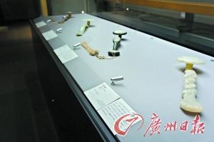 东京国立博物馆展出的清代玉如意。
