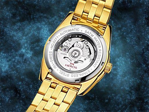 防水等主要功能,为了让用户欣赏到全自动机械机芯的精美外观,手表底盖