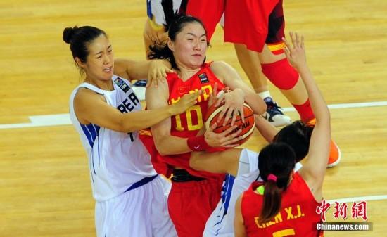 女篮亚锦赛 中国女篮战胜韩国女篮取得两连胜