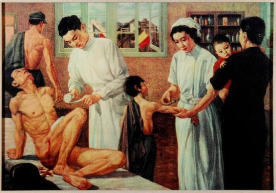 张充仁油画作品《恻隐之心》(1939)