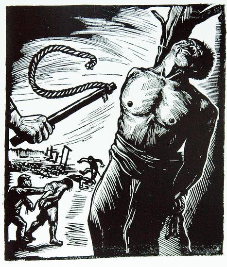 张明曹的木刻连环画《仇》(1938)