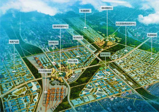 东北亚国际物流产业园区规划图-长吉产业创新发展示范区物流产业规