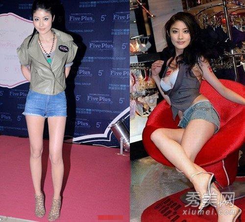 陳慧琳172.8cm的身高,有一雙大長腿在情理當中。雖然春晚上一套紅裙紅靴差強人意,但是平心而論,陳慧琳的腿還是真心美的,但美中不足就是小腿在比例上稍顯短。