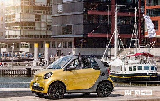 smart新一代fortwo敞篷车官图发布 下月首发高清图片