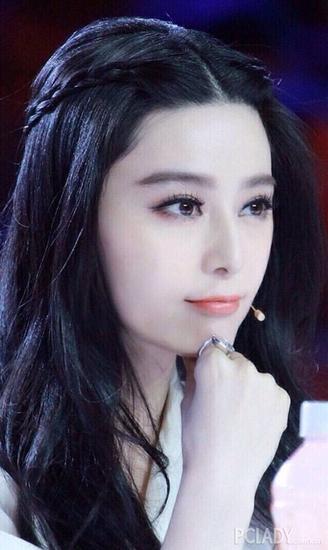 甜美的刘海编发