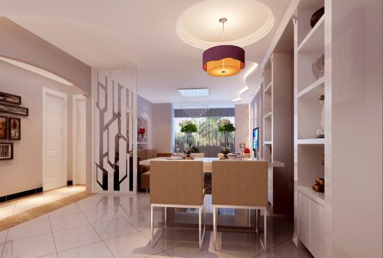 媒体村-二居室-110.00平米-餐厅装修效果图