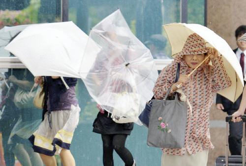 强台风登陆日本。