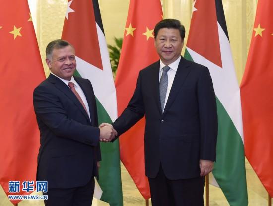 9月9日,国家主席习近平在北京人民大会堂会见约旦国王阿卜杜拉二世。 新华社记者 张铎 摄