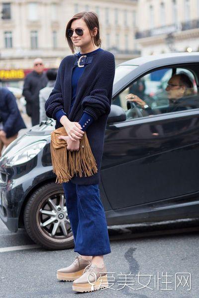 羊绒衫万能穿搭 秋冬混搭的