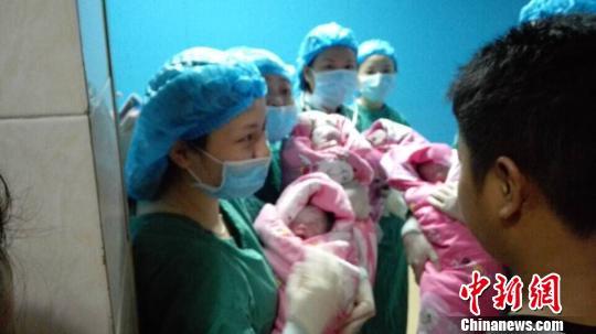 四川巴中女子产四胞胎几率小于300万分之一