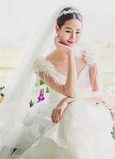 韩式婚纱照新娘造型