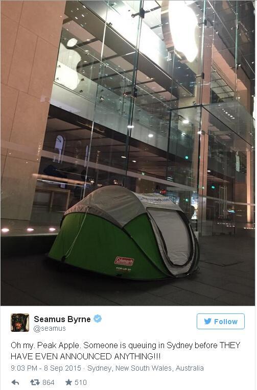 iPhone6s疯狂进行曲奏起 果粉店外扎帐篷排队