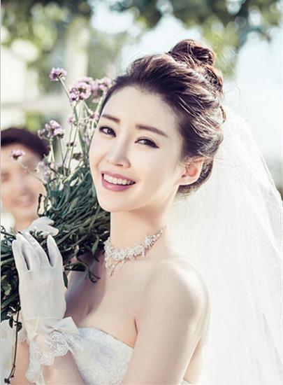 韩式婚纱照新娘造型图片