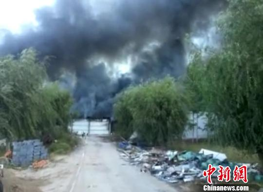 黑龙江林甸一厂房发生火灾过火面积约4700平方米