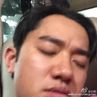 王祖蓝睡姿。