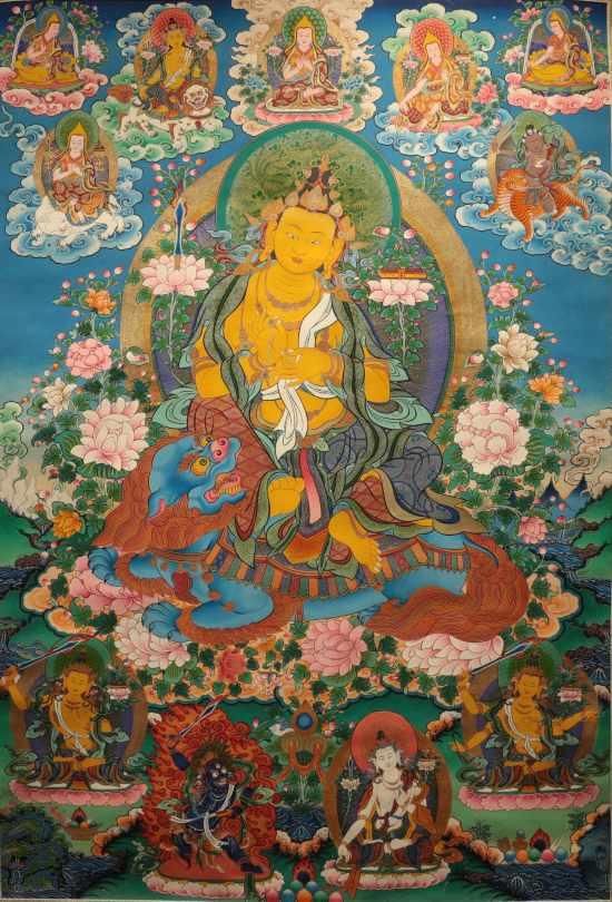 西藏日喀则藏露文化手工业撒娇唐卡图片大全民族情侣传承动态表情包图片