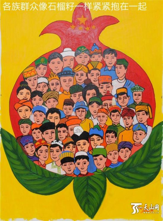 喜迎十九大农民画-麦盖提60幅农民画献礼自治区60年大庆