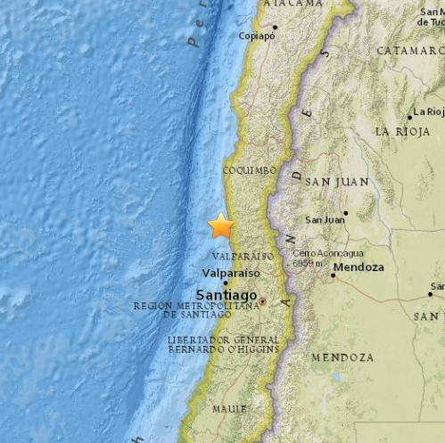 智利西部海域发生8.3级地震或将引发危险海啸