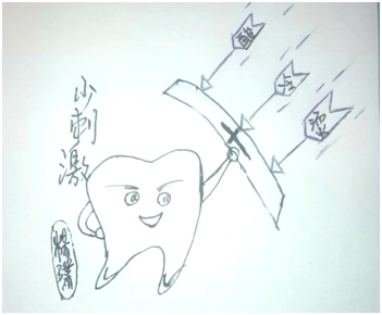 医务工作者手绘漫画《滚蛋吧,龋齿君!》关爱牙齿