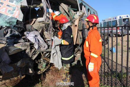 内蒙古额济纳旗发生交通事故 已致6死11伤(图)