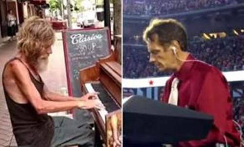 流浪汉钢琴家成名后改变人生现身表演感动众人(图)