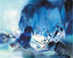 中国嘉德(香港)今秋推出的朱德群作品《温和的展望》。(嘉德供图)