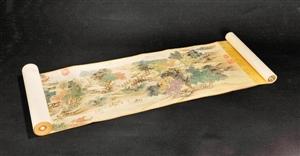 今年秋拍推出的国宝级藏品冯宁绘《金陵图》。