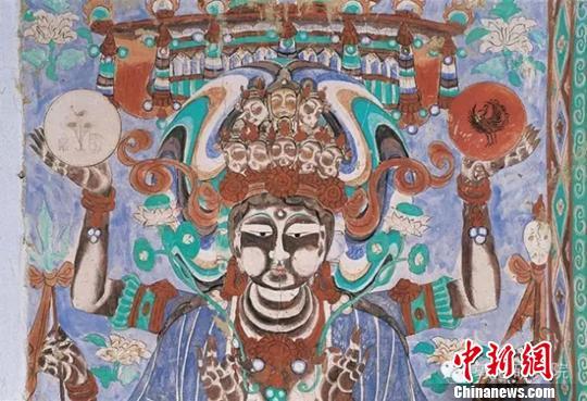 """敦煌岩画里现代中秋风俗:登""""拜月楼""""祈愿长命团聚"""