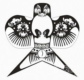 老鹰风筝手绘图样