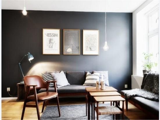 北欧风格客厅 灰白