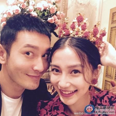 黄晓明Angelababy中式婚纱照曝光喜糖盒可爱(图)