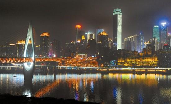 灯饰升级亮相 重庆夜景有了新模样图片