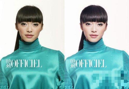 女星未PS照遭曝光不忍直视-Angelababy刘亦菲昆凌范冰冰 明星自拍和